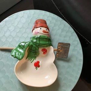 Hallmark snowman candy dish